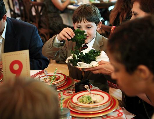 Kids Eat Kale at State Dinner