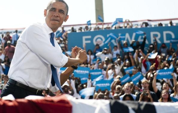 Barack Obama Strolls Down EZ Street
