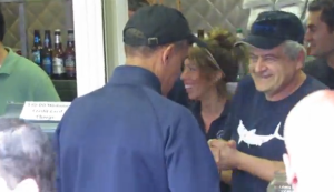 Obama at Martha's Vineyard: Fried Oysters and Fried America!