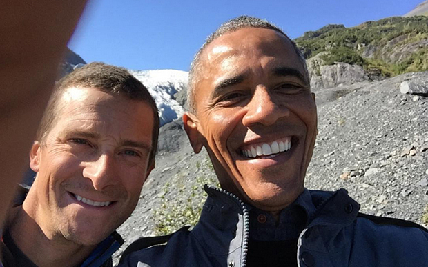 WE'RE DOOMED: Barack Obama Learns About His Belly-Button Lint from Bear Grylls