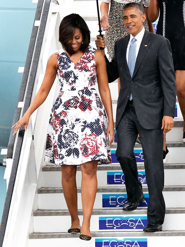Michelle Obama Advocates for Poor Cubans — In a Designer Dress That Costs WHAT?